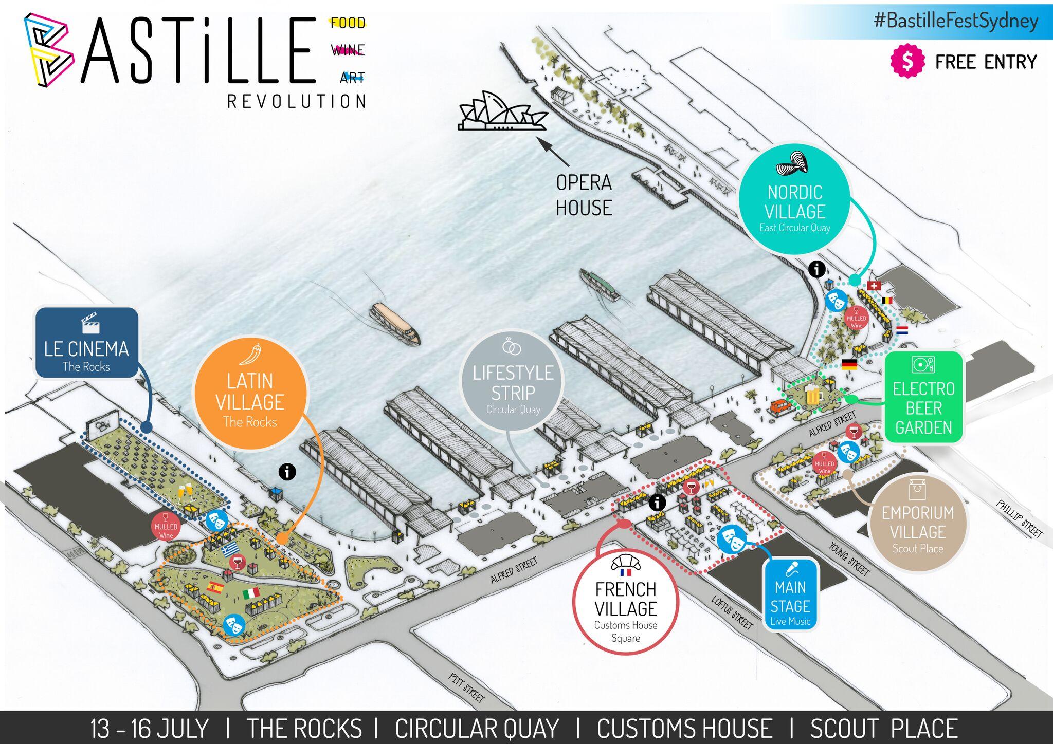 Bastille Festival Map