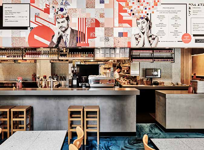 -melbourne-pezzo-restaurant-dining-casual-date place-pizza-italian-cuisine-cbd-city-cheap-affordable-chips-lampb-calamari-ice cream-flinders