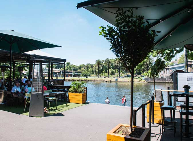 Riverland bar CBD melbourne bars beer gardens outside outdoor summer river waterfront yarra city laneway hidden groups good 003
