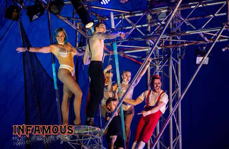 infamous circus brisbane whats on brisbane performance dance events date night