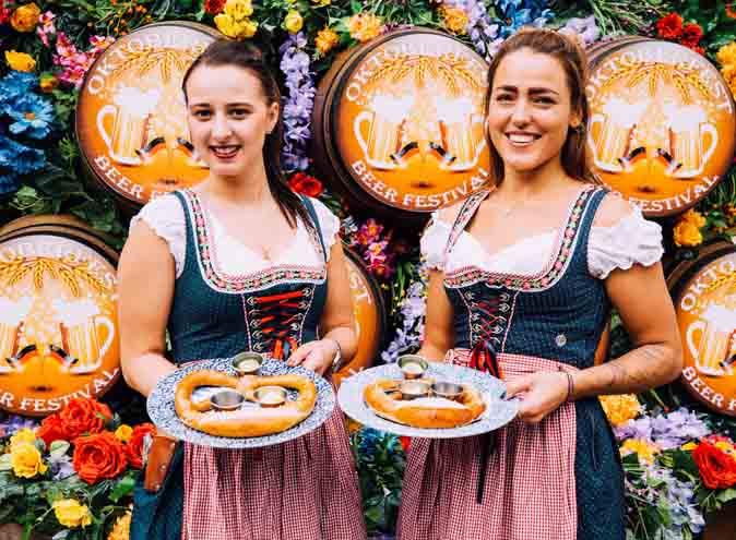 oktoberfest beermaiden beer maiden dirndl october germany brisbane hidden city secrets