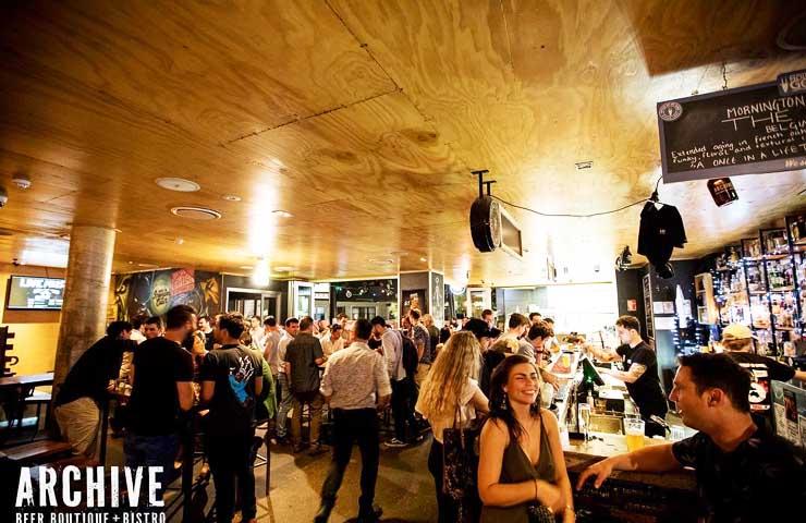 archive beer boutique bistro bar restaurant West End Brisbane trivia date night