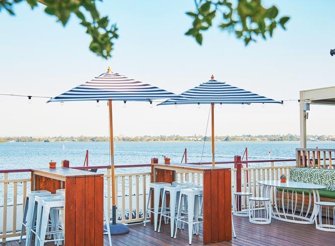 Lucky Shag Waterfront Bar Perth CBD City Rooftop Outdoor View Beachside restaurant restaurants dining al fresco seafood australian modern parma burgers 006