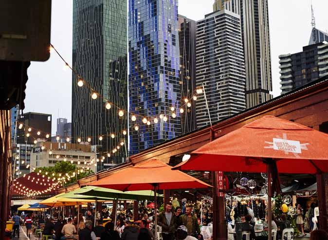 Europa Night Market Vicmarket Queen Victoria Melbourne Cbd Market Food Stalls Retail Italian Greek German Yum Drinks Cocktails 3