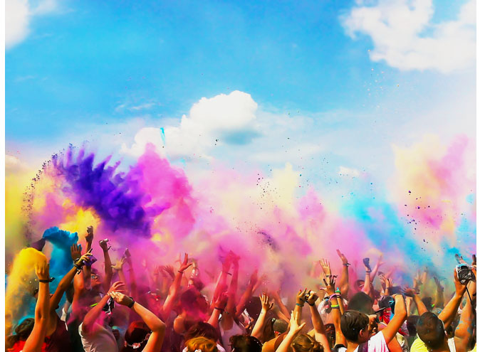 holi festival fed square melbourne indian food culture best events city labour day weekend
