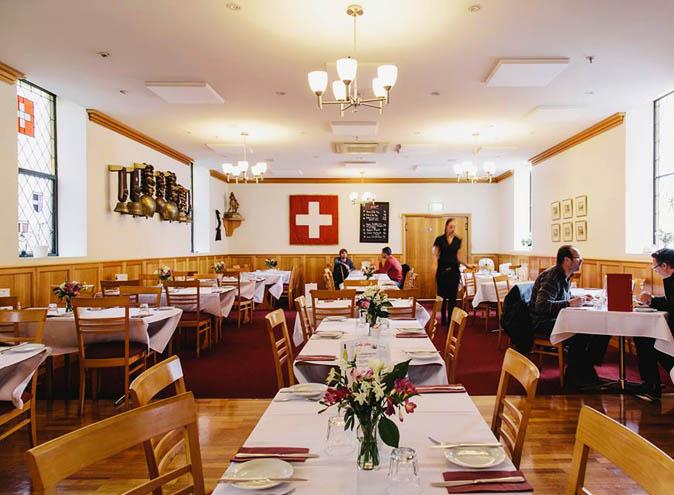 swiss club restaurant melbourne cbd cheese fondue authentic dining