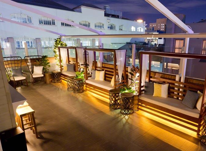 elixir rooftop bar brisbane lush greenery fairylights outdoor 001
