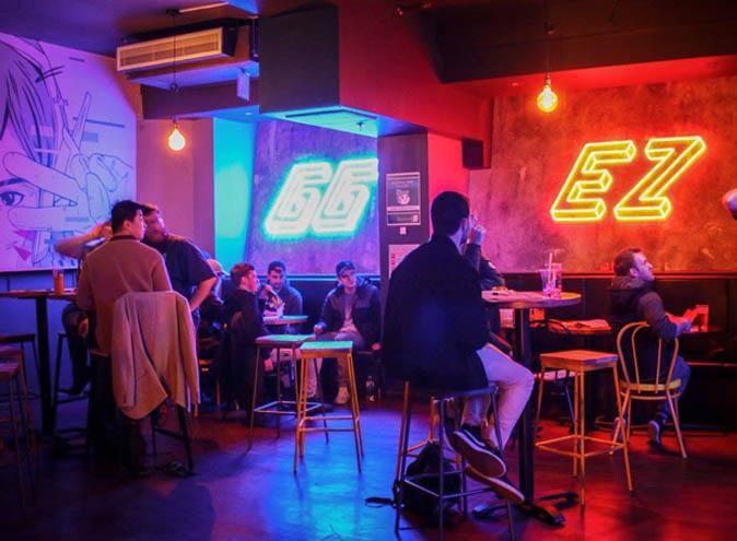 gg ez melbourne cbd esports bar gaming fun underground neon drinks 4