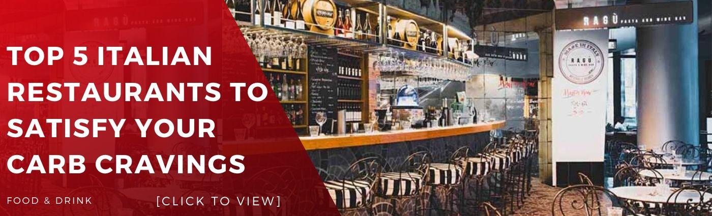 Top 5 Italian Restaurants To Satisfy Your Carb Cravings best food restaurant sydney bar bars