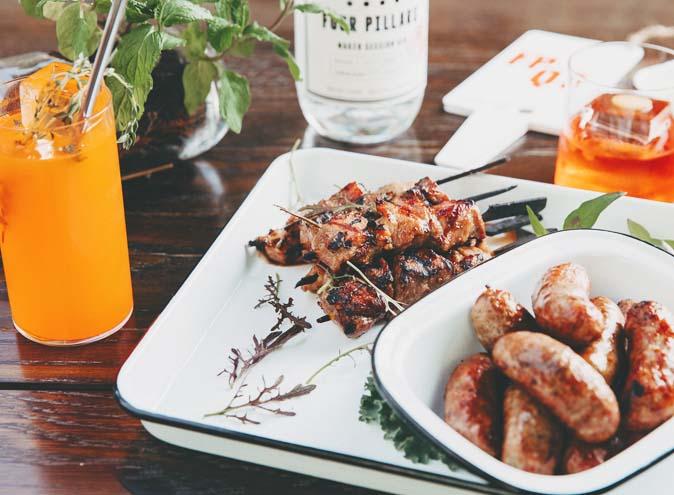 Secret Garden Bar QT Four Pillars gin rooftop bars cocktails best food restaurant restaurants date night Melbourne CBD 005