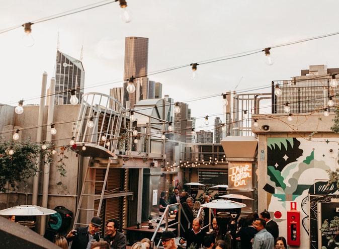 Secret Garden Bar QT Four Pillars gin rooftop bars cocktails best food restaurant restaurants date night Melbourne CBD 01 1